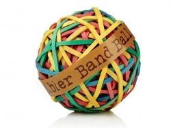 Balle d'élastiques / Rubber band ball