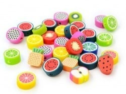 Acheter 30 perles en pâte polymère - fruits tutti frutti - 4,00€ en ligne sur La Petite Epicerie - 100% Loisirs créatifs
