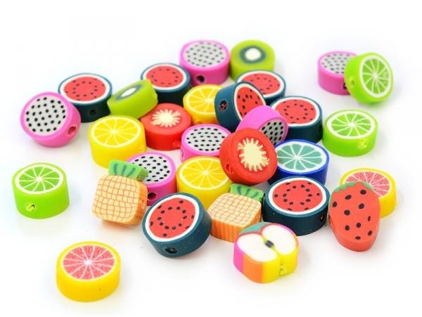 Set of 30 tutti frutti beads
