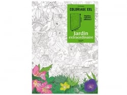 Poster coloriage XXL - Jardin extraordinaire Marabout - 1