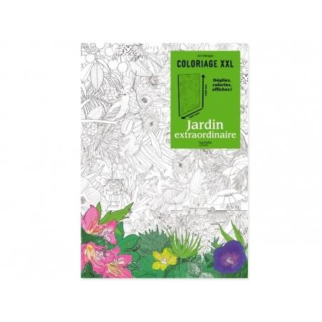 Poster coloriage XXL - Jardin extraordinaire