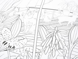"XXL colouring poster - ""Jardin extraordinaire"""