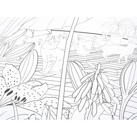 Acheter Poster coloriage XXL - Jardin extraordinaire - 5,90€ en ligne sur La Petite Epicerie - 100% Loisirs créatifs