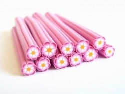 Flower cane - pink shaded