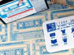 All-purpose stamp ink pad - blue