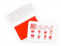 Stempelkissen für alle Oberflächen - rot