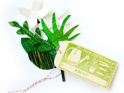 Tampon Custom Garden + Encreur vert + Crayon vert Yellow Owl Workshop - 4