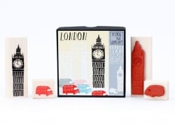 London: Big Ben stamp + bus stamp