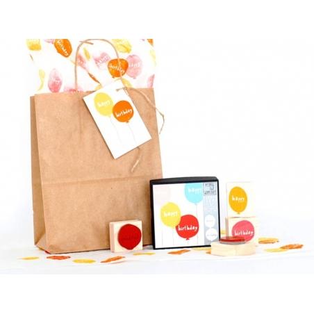 """Tampon ballon """"happy"""" + Tampon ballon """"birthday"""" Yellow Owl Workshop - 2"""