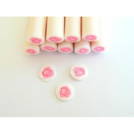 Cane rose en pâte polymère