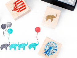 Circus: Rubber stamp set (5 pcs)