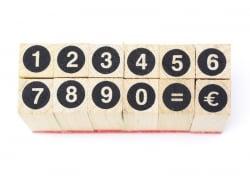 Tampons chiffres cerclés - 12 caractères