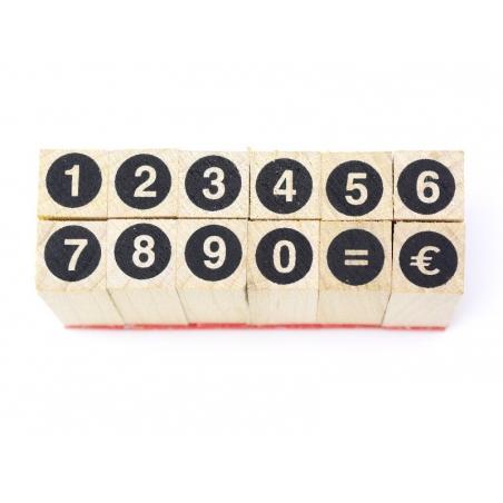 Acheter Tampons chiffres cerclés - 12 caractères - 2,99€ en ligne sur La Petite Epicerie - Loisirs créatifs