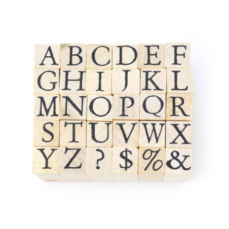 Capital letter stamps - 30 signs