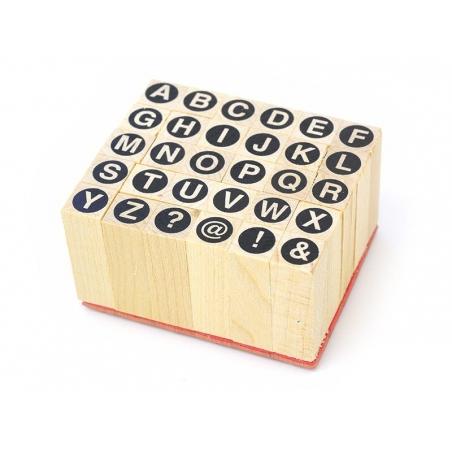 Acheter Tampons lettres majuscules cerclées - 30 caractères - 5,99€ en ligne sur La Petite Epicerie - Loisirs créatifs