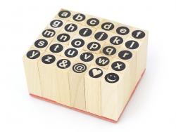 Stempel mit eingekreisten Kleinbuchstaben - 30 Zeichen