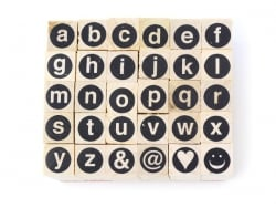 Encircled capital letter stamps - 30 signs