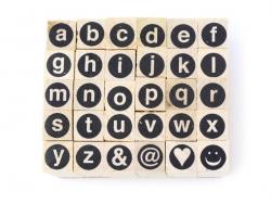 Acheter Tampons lettres minuscules cerclées - 30 caractères - 5,99€ en ligne sur La Petite Epicerie - 100% Loisirs créatifs