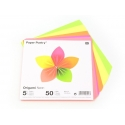 50 feuilles de papier Origami - fluo