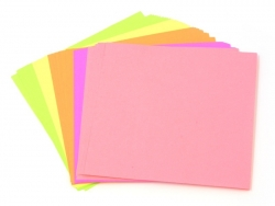 50 Blätter Origamipapier - Neonfarben
