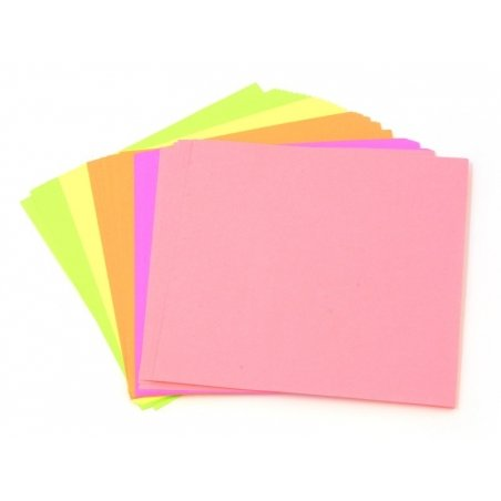 50 sheets of origami paper - neon