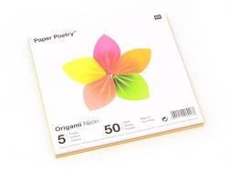 Acheter 50 feuilles de papier Origami - fluo - 2,59€ en ligne sur La Petite Epicerie - Loisirs créatifs