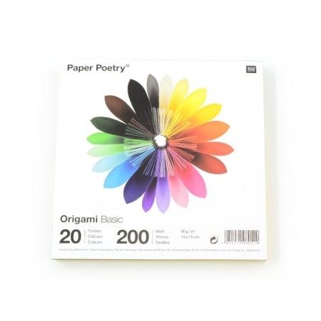 200 feuilles de papier Origami - 20 couleurs Rico Design - 3