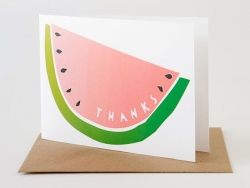 "1 wooden postcard - ""Thanks"", with an anchor + envelope"