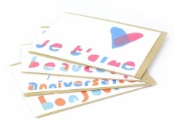 "1 carte ""Je t'aime"" + enveloppe"