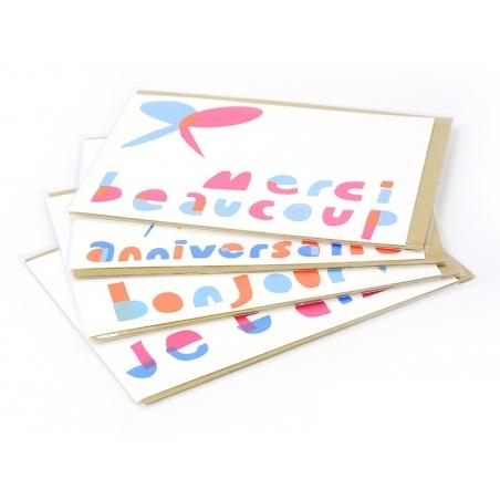 "1 carte ""merci beaucoup"" + enveloppe Yellow Owl Workshop - 2"