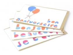 """1 carte """"bon anniversaire"""" + enveloppe"""