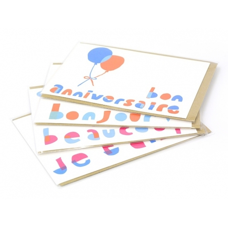 "1 carte ""bon anniversaire"" + enveloppe Yellow Owl Workshop - 2"