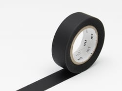 Masking tape uni - noir Masking Tape - 1