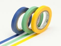 Masking tape trio slim - jaune-vert-bleu Masking Tape - 1
