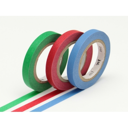 Masking tape trio (slim) - Green, red, and blue Masking Tape - 1