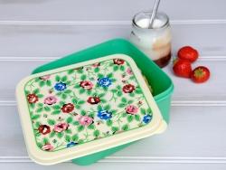 Luftdichte Vorratsdose/Brotdose - Blumen/Vintagedesign
