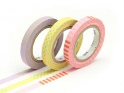 Masking tape trio slim A - Bicolore deco pastel Masking Tape - 1