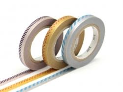 Masking tape trio slim C - Bicolore deco métallisé Masking Tape - 1