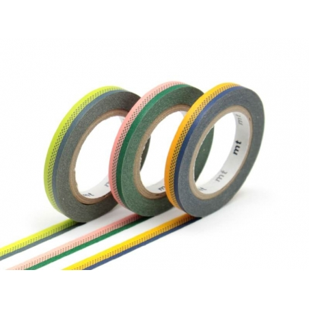 Masking tape trio (slim) B - Two-coloured frieze pattern Masking Tape - 1