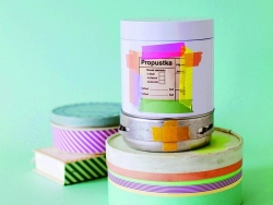 Masking tape trio (slim) B - Two-coloured frieze pattern Masking Tape - 2