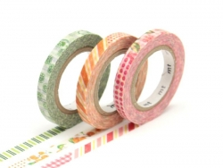 Masking tape trio (slim) D - Multi-coloured, fruity design Masking Tape - 1