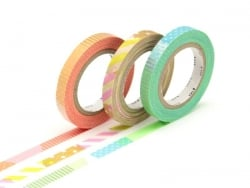 Masking tape trio (slim) E - Multicoloured design, neon colours Masking Tape - 1