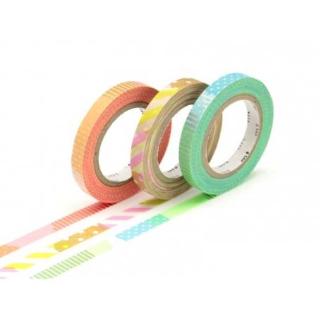 Masking tape trio (slim) E - Multicoloured design, neon colours Masking Tape - 1