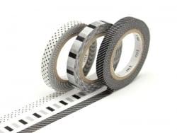Masking tape trio slim F - Tricolore deco argent Masking Tape - 1