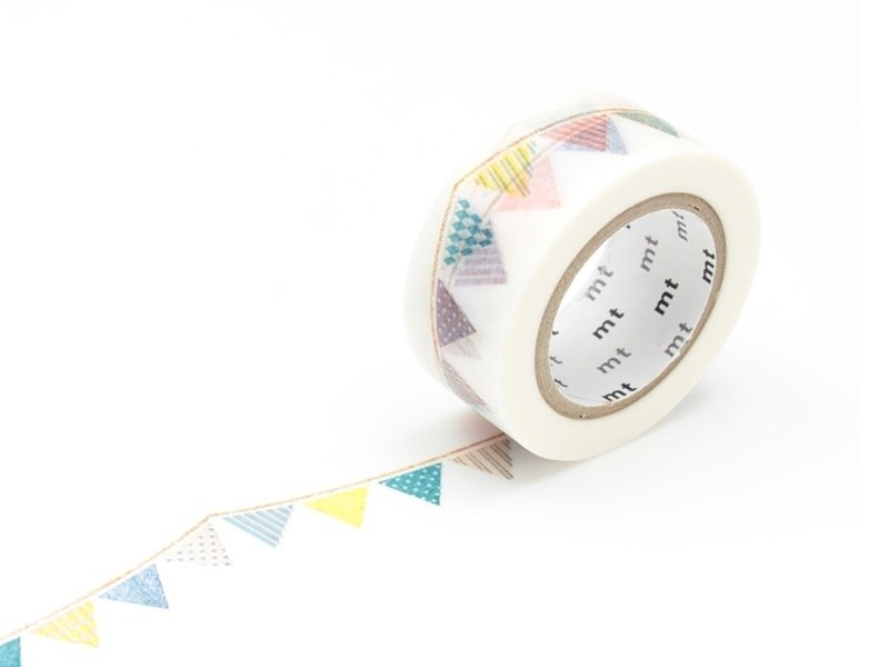 Masking tape motif 20mm - Fanions multicolores Masking Tape - 1