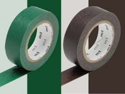 Set of 2 rolls of masking tape - chocolate / peacock Masking Tape - 1