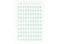10 gift bags - aqua green diamonds