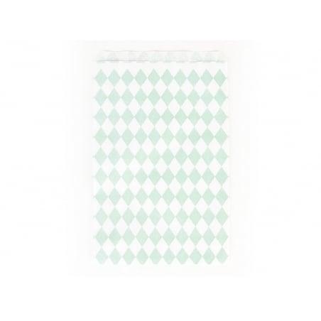 10 pochettes cadeaux - losanges verts aqua My little day - 1