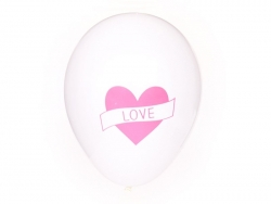 5 ballons My Little Day - Tatouage coeur / love