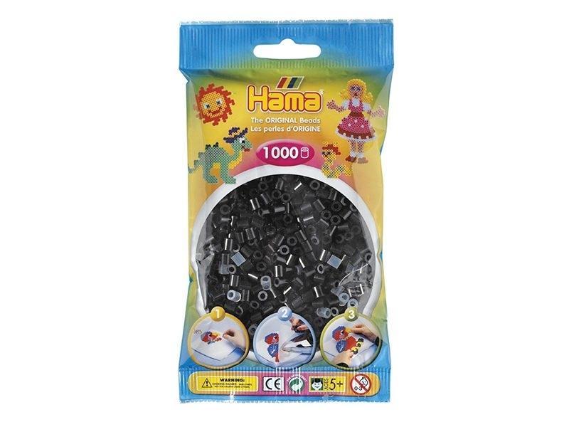Bag of 1,000 classic HAMA MIDI beads - black